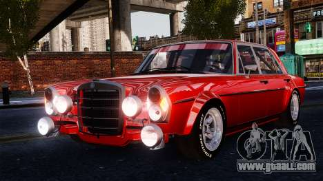 Mercedes-Benz 300 SEL 6.8 AMG W109 for GTA 4 back view