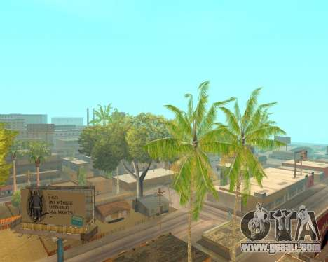 Palm trees from Crysis for GTA San Andreas third screenshot