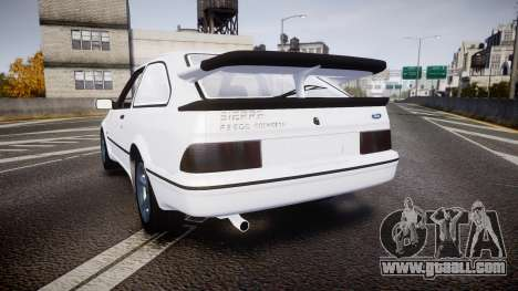 Ford Sierra RS500 Cosworth for GTA 4 back left view