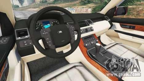 GTA 5 Range Rover Sport 2010 v0.7 [Beta] rear right side view