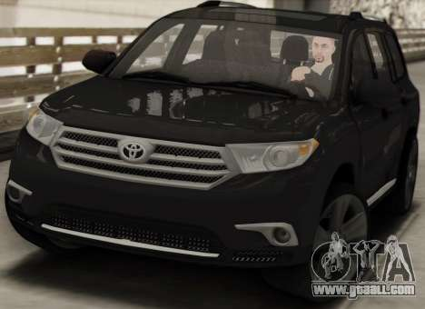 Toyota Highlander 2011 for GTA San Andreas inner view