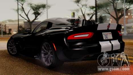 Dodge Viper SRT GTS 2013 IVF (MQ PJ) LQ Dirt for GTA San Andreas back left view