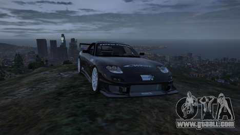 GTA 5 Mazda RX7 C-West 0.2 back view