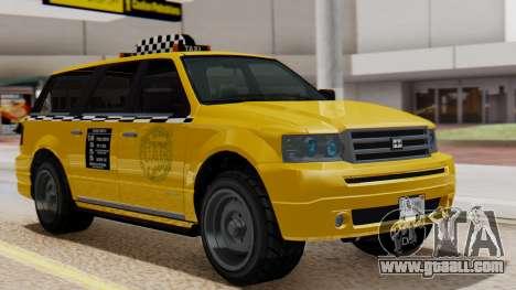 Landstalker Taxi SR 4 Style Flatshadow for GTA San Andreas