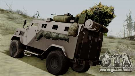 SPM-3 from Battlefiled 4 for GTA San Andreas left view