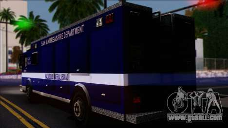 FDSA Hazardous Materials Squad Truck for GTA San Andreas left view