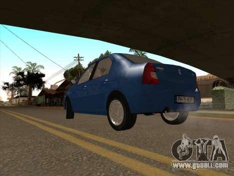 Dacia Logan Prestige for GTA San Andreas back left view