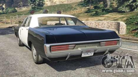 GTA 5 Dodge Polara 1971 Police v3.0 rear left side view