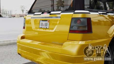 Vapid Landstalker Taxi SR 4 Style Flatshadow for GTA San Andreas right view