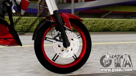 Yamaha Vixion Advance for GTA San Andreas back left view
