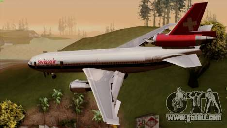 DC-10-30 Swissair for GTA San Andreas left view