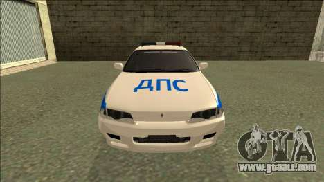 Nissan Skyline R32 Russian Police for GTA San Andreas right view