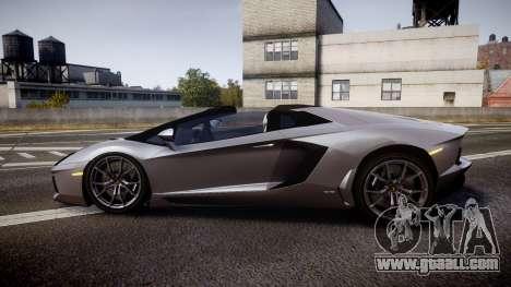 Lamborghini Aventador Roadster for GTA 4 left view