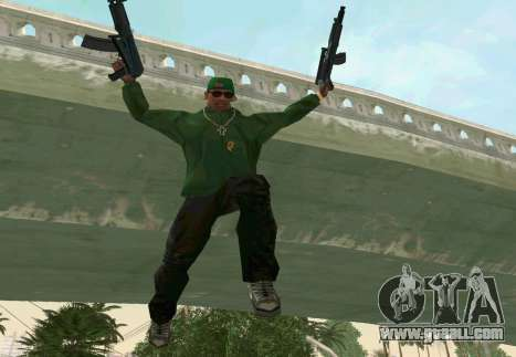 AKS-74U for GTA San Andreas sixth screenshot