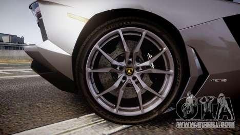Lamborghini Aventador Roadster for GTA 4 back view