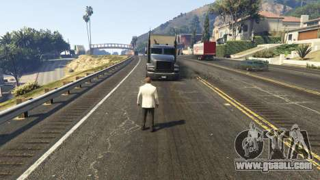GTA 5 The explosion left the tires of nearby cars 2.0 second screenshot
