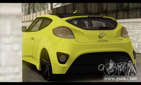 Hyundai Veloster 2012 for GTA San Andreas interior