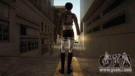 Eren Jaeger for GTA San Andreas third screenshot