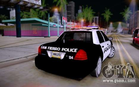 Ford Crown Victoria Police for GTA San Andreas left view