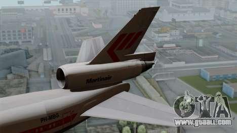 DC-10-30 Martinair for GTA San Andreas back left view