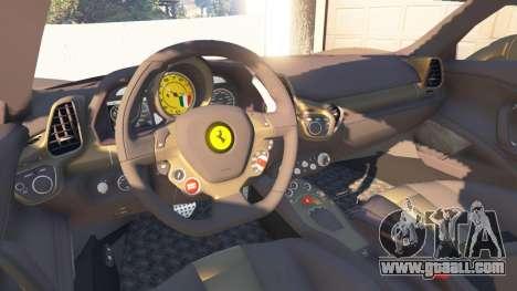 GTA 5 Ferrari 458 Italia v0.9.3 rear right side view