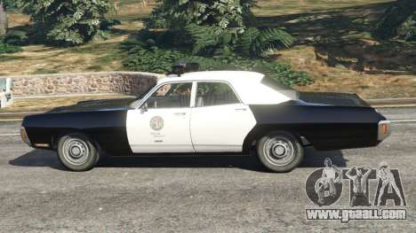 GTA 5 Dodge Polara 1971 Police v3.0 left side view