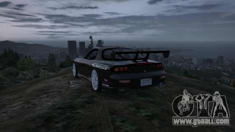 GTA 5 Mazda RX7 C-West 0.2 rear right side view