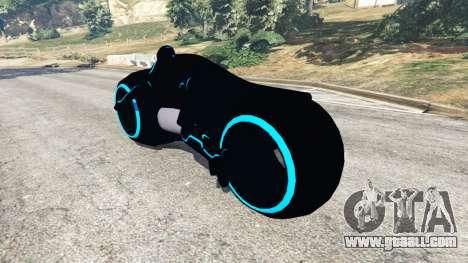 Tron Bike blue for GTA 5