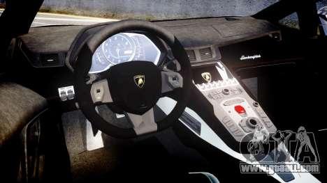 Lamborghini Aventador Roadster for GTA 4 inner view