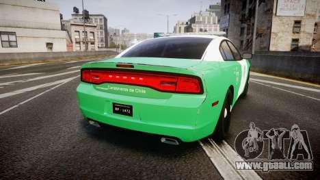 Dodge Charger Carabineros de Chile [ELS] for GTA 4 back left view