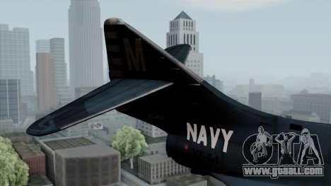 Grumman F9F-5 Phanter for GTA San Andreas back left view