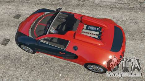 GTA 5 Bugatti Veyron Grand Sport v3.3 back view