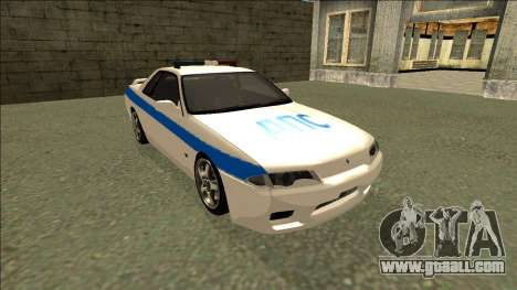 Nissan Skyline R32 Russian Police for GTA San Andreas back view