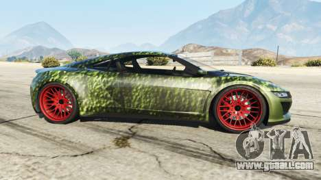 GTA 5 Dinka Jester (Racecar) Hulk left side view
