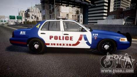 Ford Crown Victoria Alderney Police [ELS] for GTA 4 left view
