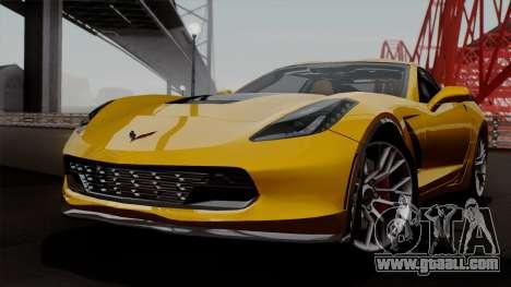 Chevrolet Corvette Z06 1.0.1 for GTA San Andreas side view
