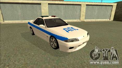 Nissan Skyline R32 Russian Police for GTA San Andreas left view