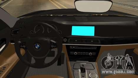 BMW 750Li 2012 for GTA San Andreas right view