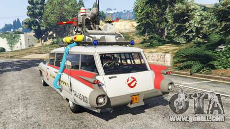 GTA 5 Cadillac Miller-Meteor 1959 ECTO-1 v0.1 [Beta] rear left side view