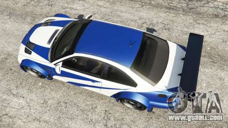 GTA 5 BMW M3 GTR E46 Most Wanted back view