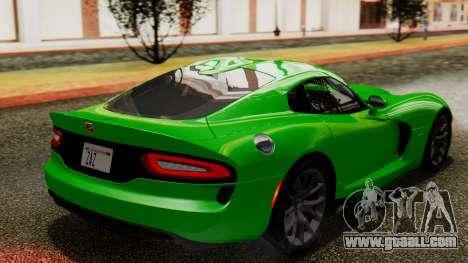 Dodge Viper SRT GTS 2013 IVF (MQ PJ) No Dirt for GTA San Andreas left view