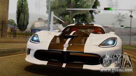 Dodge Viper SRT GTS 2013 IVF (HQ PJ) LQ Dirt for GTA San Andreas