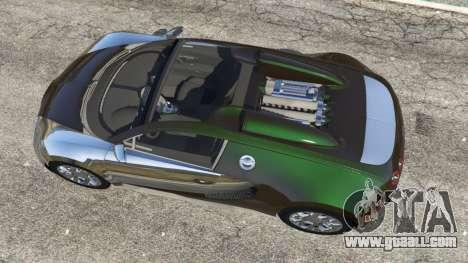 GTA 5 Bugatti Veyron Grand Sport v3.0 back view