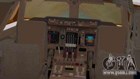 Boeing 747-200 British Airways for GTA San Andreas inner view