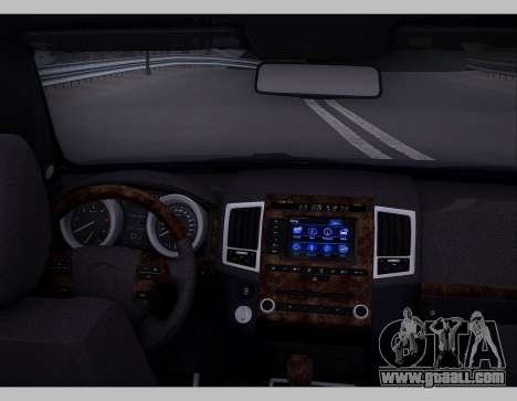 Lexus GX460 2014 for GTA San Andreas inner view