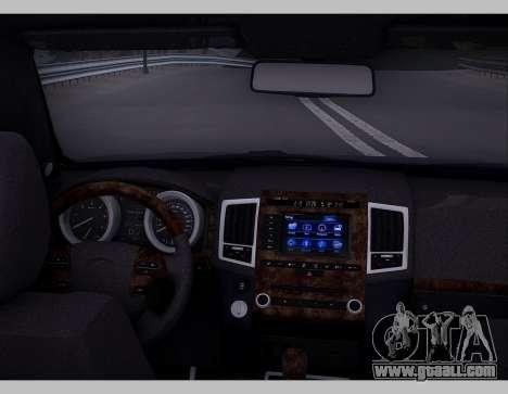 Lexus GX460 2014 for GTA San Andreas inner view