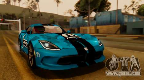 Dodge Viper SRT GTS 2013 IVF (HQ PJ) LQ Dirt for GTA San Andreas bottom view