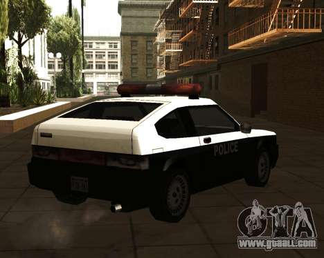 Japanese Police Car Blista for GTA San Andreas left view