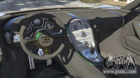 GTA 5 Bugatti Veyron Grand Sport v3.0 rear right side view