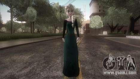 Elsa Frozen HQ Dress for GTA San Andreas second screenshot